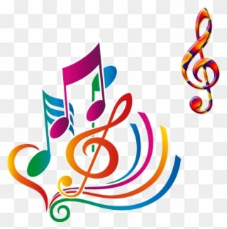Musical Art Color Notes Notas Musicais Desenho Coloridas Png Clipart Musical Art Creative Project Art