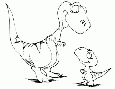 Baby Dinosaur Coloring Pages For Kids Dinosaurs Pictures And