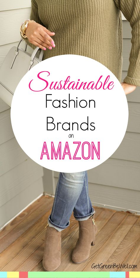 Did you know sustainable fashion brands are available on Amazon?!? Here's the best picks for ethical fashion to easily order online.