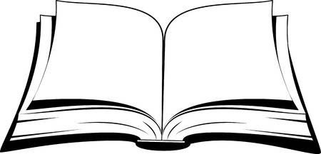 Open Book On A White Background Vector Illustration Open Book Book Silhouette Open Book Drawing