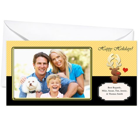 Photo Cards : Rudolph Christmas Holiday Photo Card Template