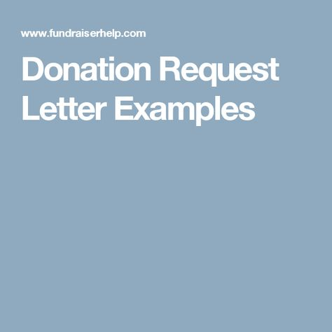 Donation Request Letter Examples Letter example, Fundraising and - donation form example