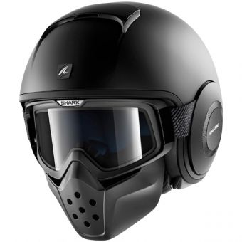 Casque Shark Street Drak Blank Harley Pinterest Helmet Black