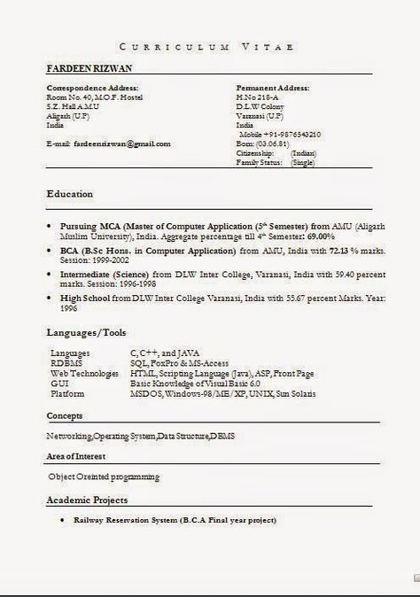format of resume in pdf Sample Template Example ofExcellent CV - sql resume