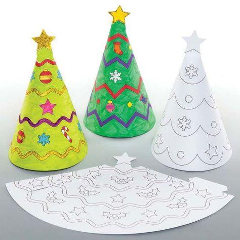 Christmas Colour In Cone Decorations Manualidades Navidenas Manualidades Arte De Navidad
