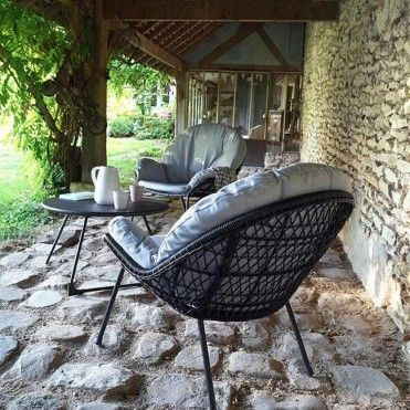 Stolik Blooma Nova 70 Cm Czarny Stoly Meble Ogrodowe Outdoor Furniture Outdoor Decor Relaxing Places