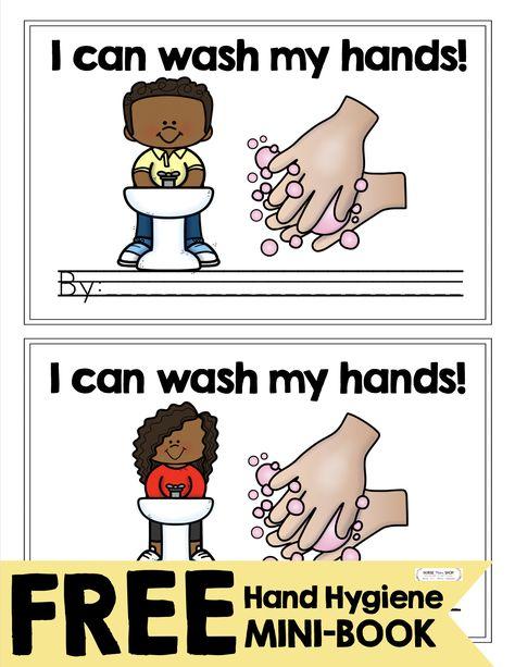 FREE health and hand hygiene mini-book and printables 1st Day Of School, Beginning Of The School Year, Homeschool Kindergarten, Kindergarten Classroom, Free Preschool, Preschool Activities, Health Activities, Hand Hygiene, School Counseling
