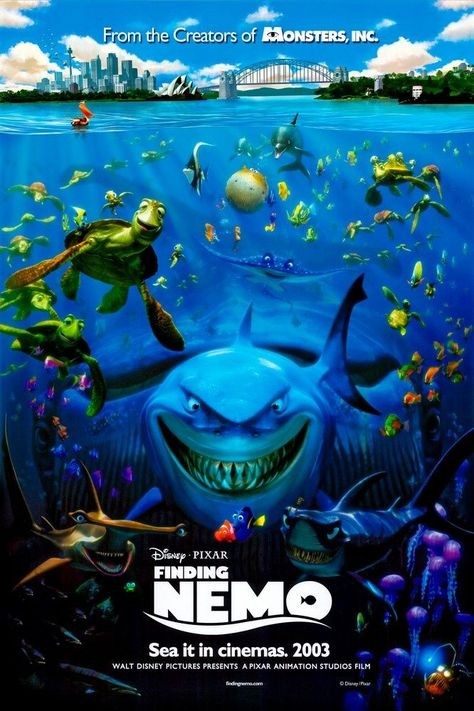 Finding Nemo (2003) Solid-Faced Canvas Print
