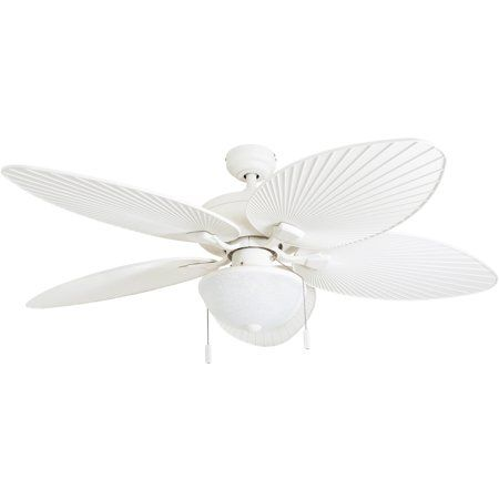 Honeywell Inland Breeze 52 Inch White Outdoor Led Ceiling Fan With Light Plastic Wicker Blades Ceiling Fan Ceiling Fan With Remote Outdoor Ceiling Fans