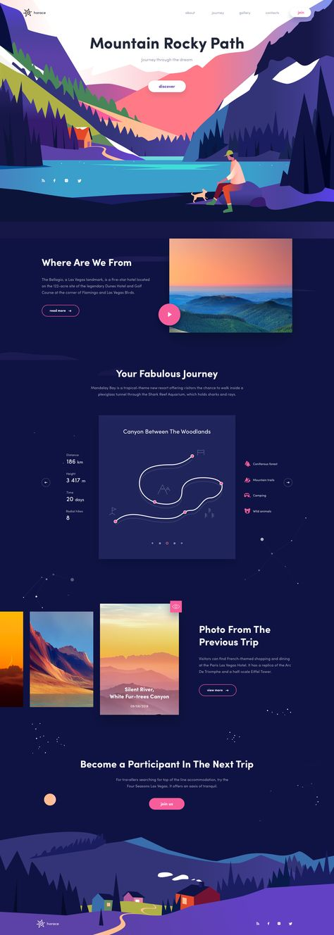 Mountain Rocky Landing page #illustration #landingpage #dribbble #ui #mountain #colors #website #webdesign #homepage