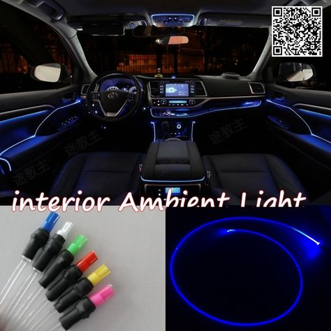 For Toyota Auris 2006 2012 Car Interior Ambient Light Panel Illumination For Car Inside Cool Strip Light Opt Car Interior Cute Car Accessories Ambient Lighting