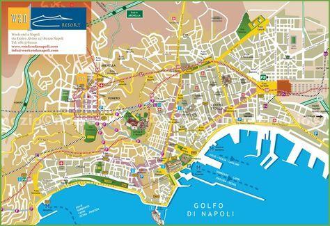 Naples Tourist City Centre Map Travel Tourist Map Map