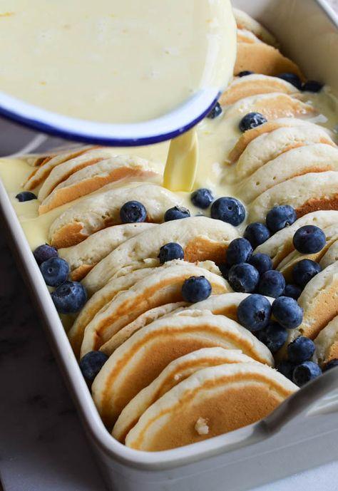 Blueberry Pancake French Toast Bake