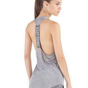 Sanke Yoga Compression Tank Top Racerback Women Sport Activewear Sleeveless Tee
