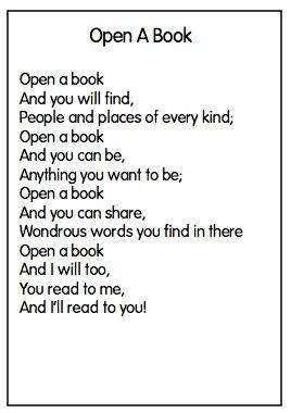 Open A Book Week 31 With Images Kids Poems