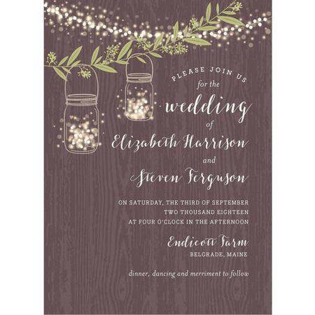 Twinkling Jars Standard Wedding Invitation Walmart Com In 2020 Wedding Invitations Brides Wedding Invitations Invitations