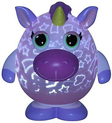 Amazon Com Playbrites 10 Unicorn Light Show Night Light Toy With 9pc Magic Fun Face Interchangeable Accessories Toys Games Unicorn Toys Unicorn Toys