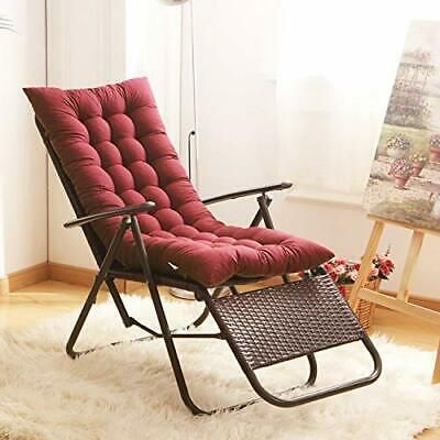 Uheng Indoor Outdoor Patio High Seat Back Chair Cushion Wine Red Thick Padded In 2020 Chair Cushions Rocking Chair Cushions Chaise Lounger