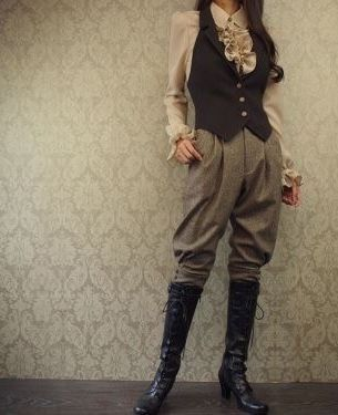 victorian fashion Asexual Pirates Dont Want Your B - Moda Steampunk, Steampunk Clothing, Steampunk Fashion, Victorian Fashion, Vintage Fashion, Steampunk Pants, Steampunk Makeup, Victorian Outfits, Steampunk Female