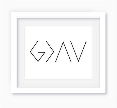 God is Greater than the Highs and Lows  | Wall Art Print  by WandererCreative  $6+ on Etsy