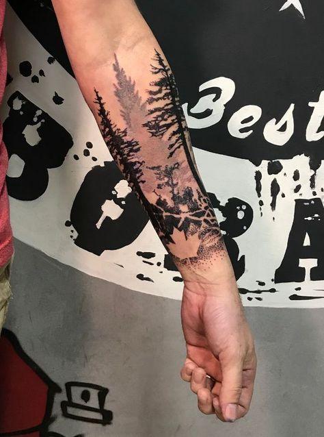 Paul Forest Tattoo Forest Tatuaż Tatuaże I Tatuaże Drzewa
