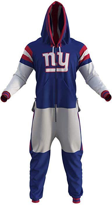 sports shoes 16041 49d1f Amazon.com: New York Giants NFL Adult Onesie (X Large) Blue ...