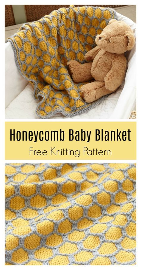 Honeycomb Afghan Baby Blanket Free Knitting Pattern Knit Baby Blanket Pattern Free Free Baby Blanket Patterns Baby Blanket Knitting Pattern