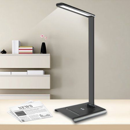 Lighting Ever 6w Dimmable Led Desk Lamp Light 7 Level Brightness Touch Sensitive Control Daylight White Folding Table Lamps R Led Desk Lamp Desk Lamp Book Lamp