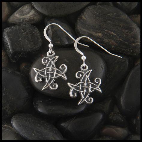Spiral Celtic Knot Earrings in Silver - Sterling Silver