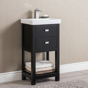 18 Inch Vanities You Ll Love Wayfair Single Bathroom Vanity