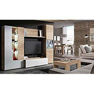 Elbectrade Soggiorno Moderno Iago Composizione Mobile Porta Tv Con Led Parete Di Design Amazon It Casa E Cucina Home Decor Home Furniture