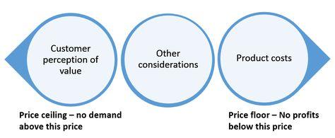 3 Major Pricing Strategies Between Price Floor And Ceiling Price Strategy Strategies Price
