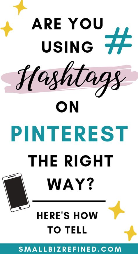 Did you know you can use hashtags on Pinterest? Here are some tips for using Pinterest hashtags the right way, and working it into your Pinterest marketing strategy. It's a great way to get found on Pinterest and grow your business using social media - as long as you do it right! #pinteresttips #onlinebusiness #socialmediatips #marketingtips #socialmediamarketing
