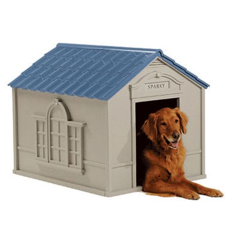 398d0796660e Suncast Deluxe Large Dog House at Menards