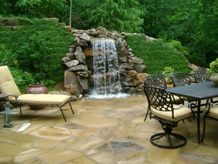 Pin By Heather Holliday On Outdoors Waterfalls Backyard Outdoor Water Features Water Features In The Garden