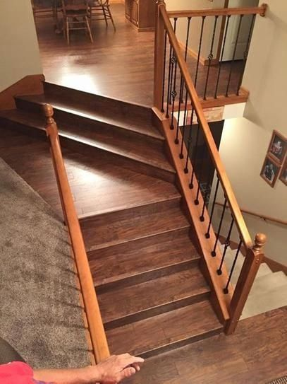 Zamma Highland Hickory 3 4 In Thick X 2 1 8 In Wide X 94 In Length Laminate Stair Nose Molding 0137541538 The In 2020 Laminate Stairs Stair Nosing Updating House