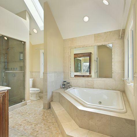 Crema Marfil 18x18 Honed Classic Marble Tile Bathroom Design Luxury Bathroom Interior Design Bathroom Interior