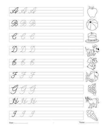 letter a practice sheets