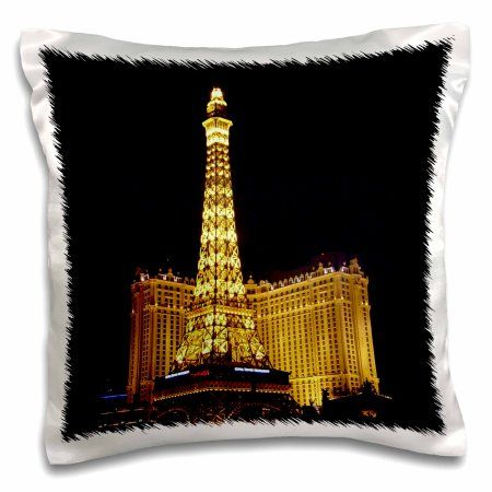 3drose Paris Hotel Casino In Las Vegas Nv Pillow Case 16 By 16