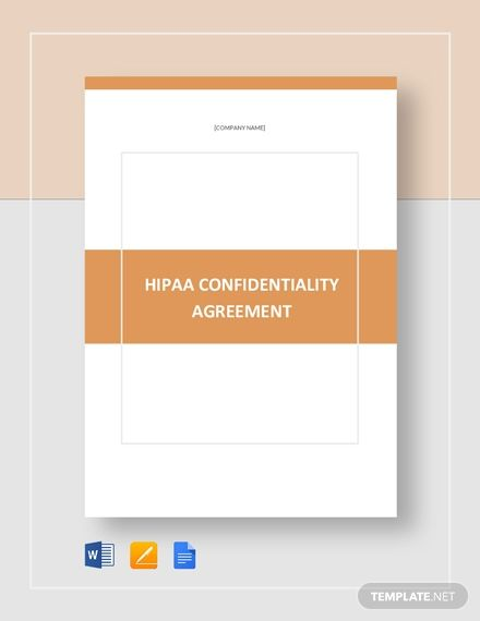 Hipaa Confidentiality Agreement Template Free Pdf Google Docs Word Apple Pages Template Net Brochure Design Template Brochure Template Layout Booklet Design