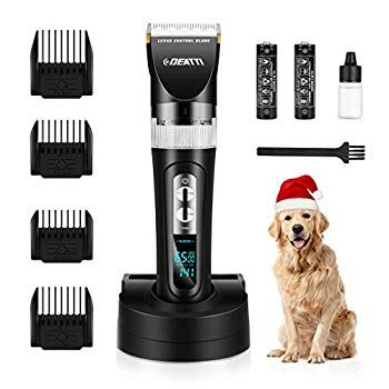 Dog Grooming Clippers Cordless Pet Clippers For Dogs Rechargeable Low Noise For Thick Coats Heavy Duty By Deatt In 2020 Dog Grooming Clippers Dog Grooming Pet Grooming