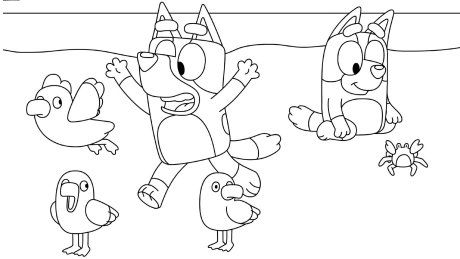 Bluey Coloring Pages 9 Kids Colouring Printables Cartoon Coloring Pages Coloring For Kids