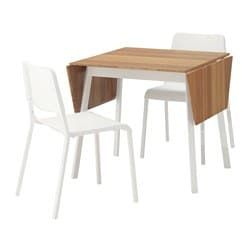 Table and 2 chairs IKEA PS 2012 / TEODORES bamboo white, white ...