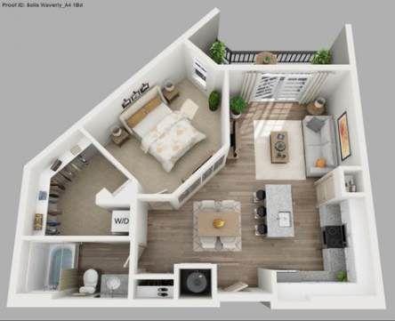 23 Ideas Apartment Floor Plan 2 Bedroom Bathroom For 2019