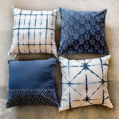 Amazon Com Bohemian Cotton Designer Sofa Cushion Cover Decorative Set Of 4 18x18 With Zipper For Bedroom Cushions On Sofa Block Printed Pillows Bedroom Couch