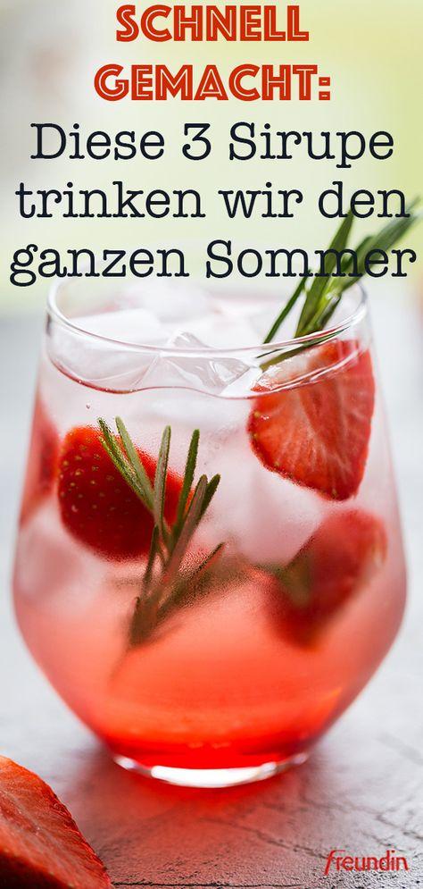 Bei heißen Temperaturen müssen wir besonders darauf achten, ausreichend zu trinken. Wie könnte das besser gelingen, als mit diesen fruchtig-erfrischenden Sommer-Sirupen!