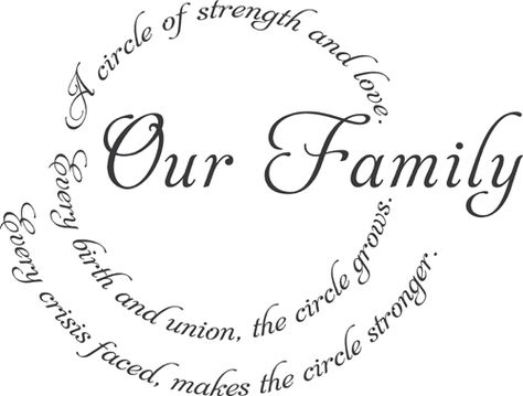 Our Family Circle 2 | Wall Decals