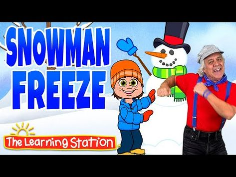 Snow Man Freeze Song ⛄️ Freeze Dance ⛄️ Winter Song for Kids ⛄️ Brain Breaks by The Learning Station Kindergarten Songs, Preschool Music, Winter Songs For Kids, Winter Fun, Winter Theme, Preschool Movement Activities, Snow Activities, Snowman Songs, Kids Songs With Actions