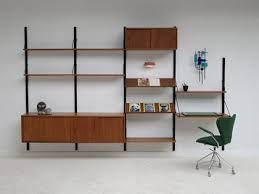 Poul Cadovius Royal System floating wall unit with dressoir ...