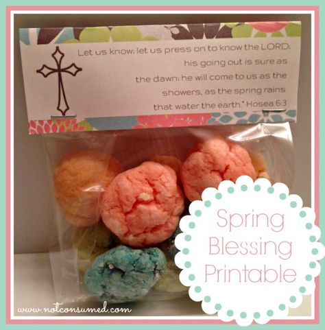 "Spring Blessing Bag. A ""Sweet"" way to bless your neighbors, friends or family. FREE Printable!"